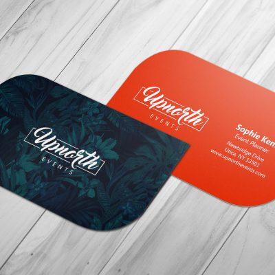 tarjetas de presentación troqueladas - con formas