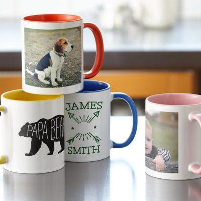 mugs - pocillos personalizados color interno