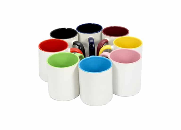 Mugs personalizados de colores internos