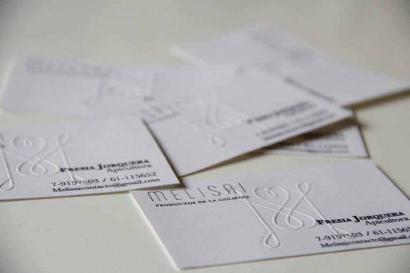 tarjetas con realce al calor