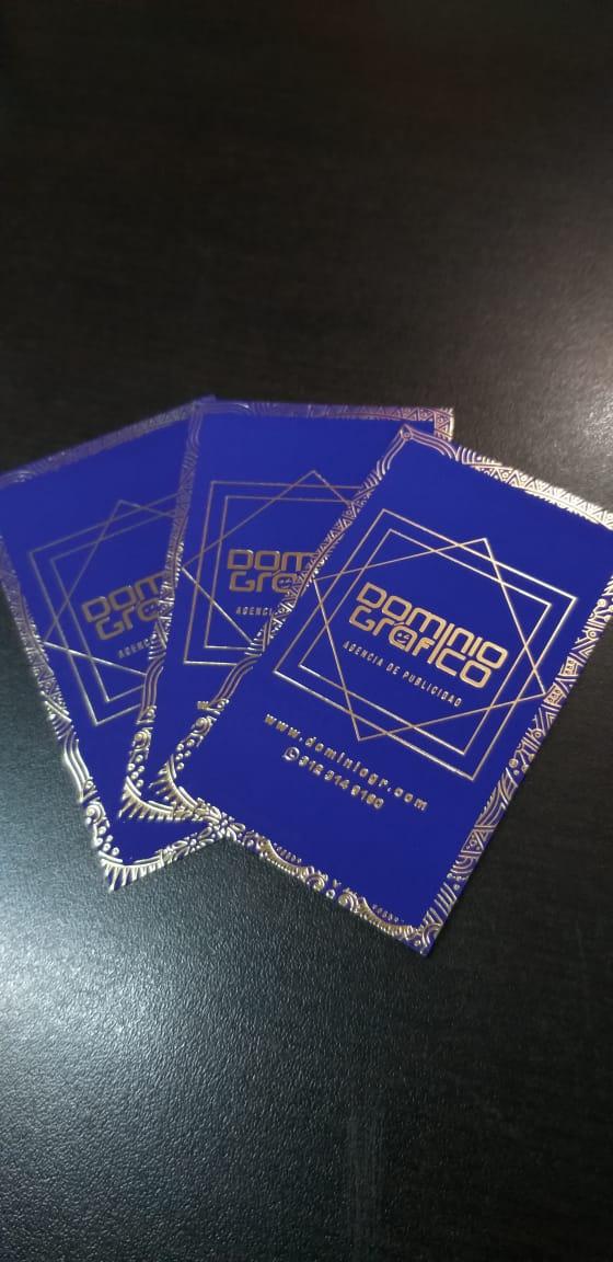Tarjetas Metalizadas, doradas