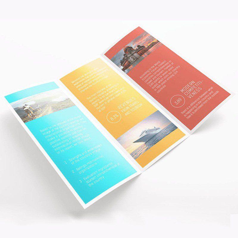 Impresion de folletos plegables triptico