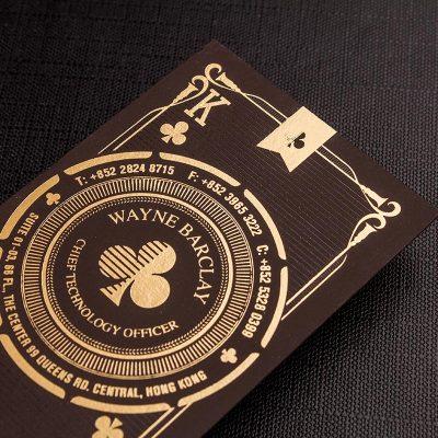 tarjetas de presentación estampadas