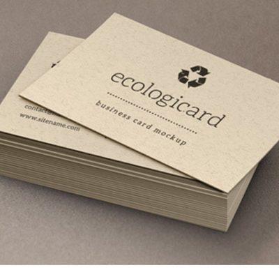 impresión de tarjetas de presentación ecológicas