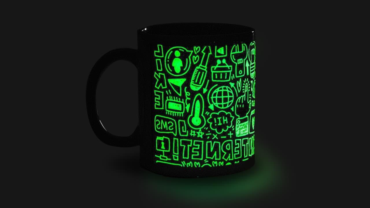 pocillos y mugs fluorescentes