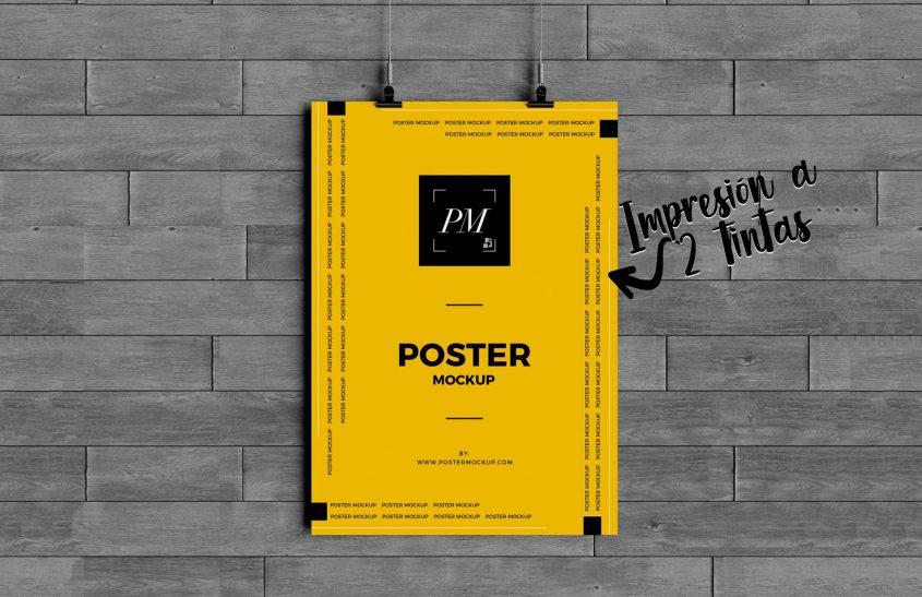 afiches a dos tintas